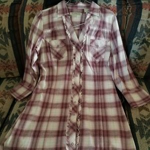 Stetson flannel dress.